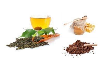 Green Tea, Honey, and Dark Cocoa Powder