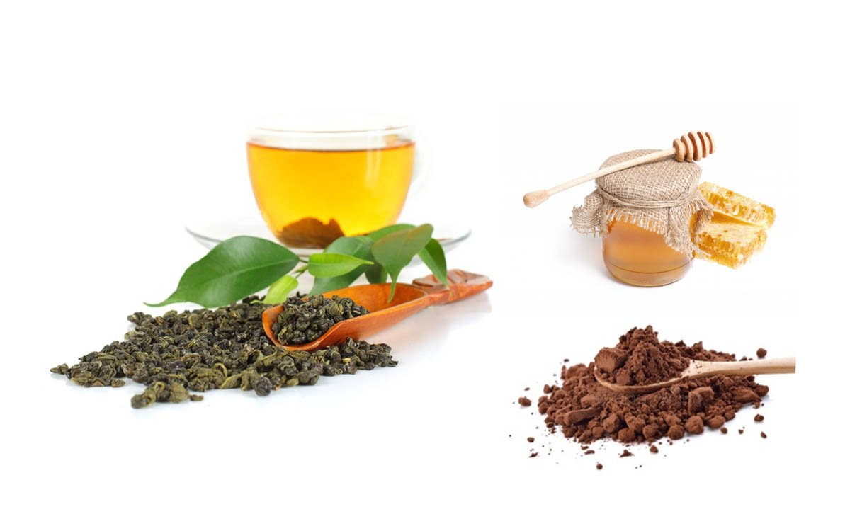 green tea honey cocoa health benefits